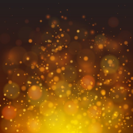 light brown background: fire-like bokeh abstraction background. Dark yellow palette defocused illustration