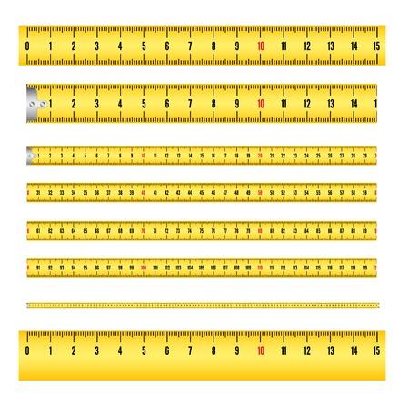 Maßband in mm für Werkzeug Roulette und Lineal. Standard-Bild - 27158635