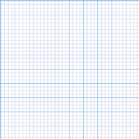 Millimeter paper grid seamless pattern 100mm square size patch Vector