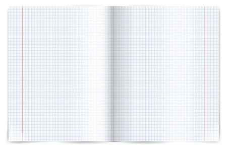 Exercise book for writing spread.  Vector