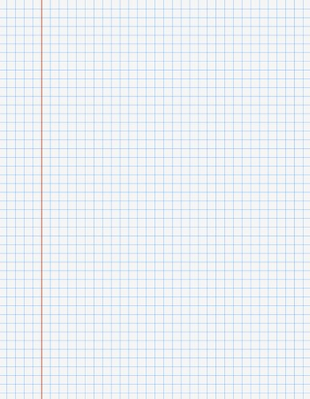 exercise book: Exercise book paper one page in square for math, 9x7 inch