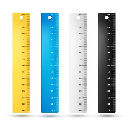 Heersers in centimeters en millimmeters. Vector Illustratie