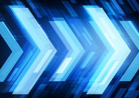 Technologie toekomst pijlen abstracte vector achtergrond, vooruit begrip Vector Illustratie