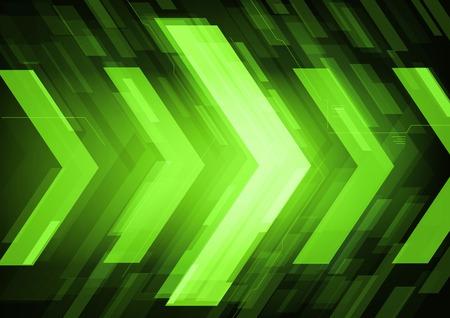 Technologie flèches futurs vecteur de fond abstrait, aller de l'avant le concept