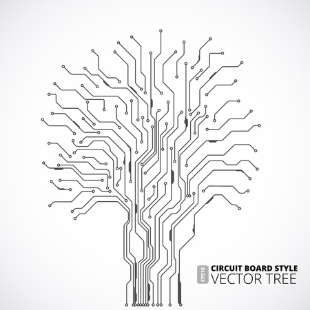 integrated: Circuit board tree background