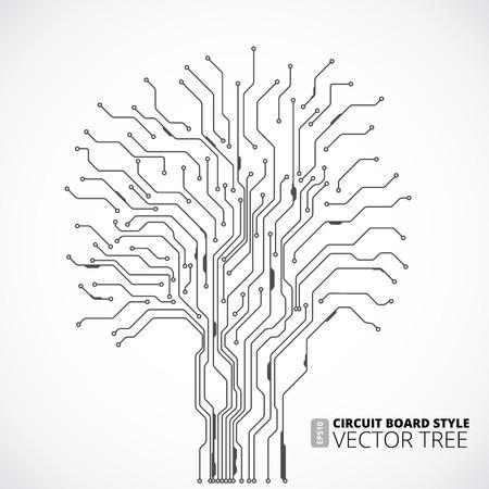 circuito integrado: Circuito de fondo de árboles bordo