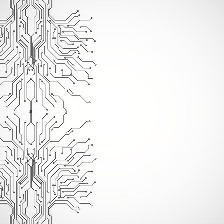 Circuit board pattern. abstract technology vector background with copy space