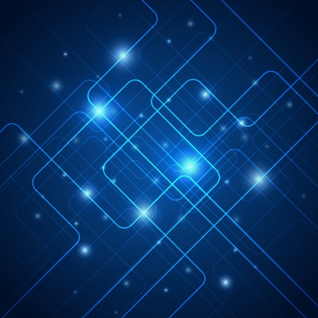 electronic background: Hi-tech blue abstract vector background with light