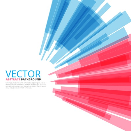 digital printing: Colorful background red-blue tech design, vector illustration