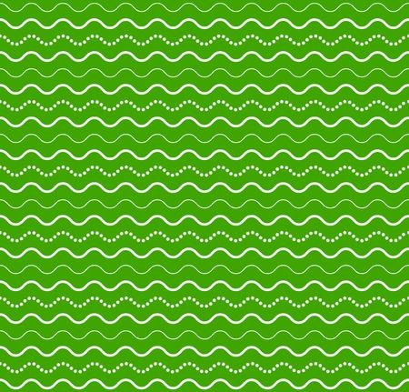 Vector waves green fabric seamless abstract pattern bakground Illustration