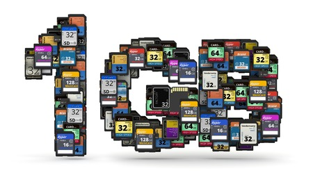 mb: 1GB capacity numbers  from many memory sd cards,  fictional brands