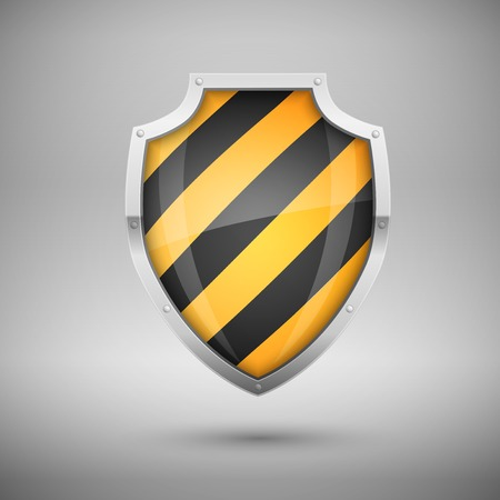 stripy: Striped Vector Shield, protection concept