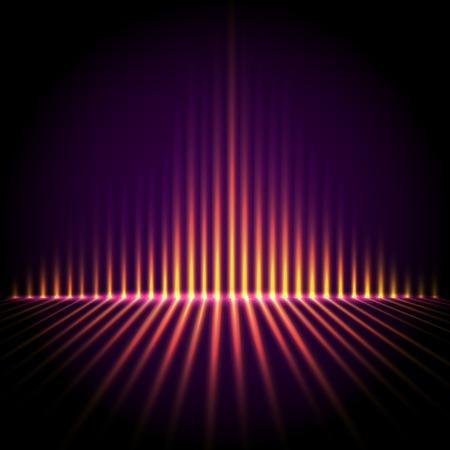 sonido: Perspectiva de Techno ecualizador, tecnología fondo abstracto del vector Vectores