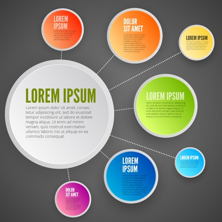 Modern business circle paper style options banner. Vector illustration. Vector