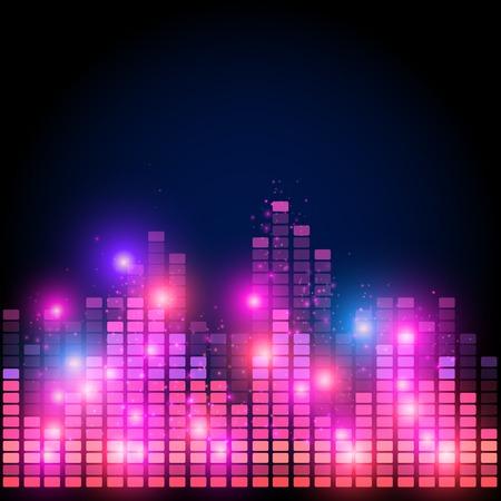 Abstract equalizer,  night music club life vector concept Vector
