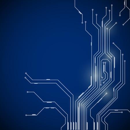 回路基板のデジタル テクノロジーの抽象的な背景