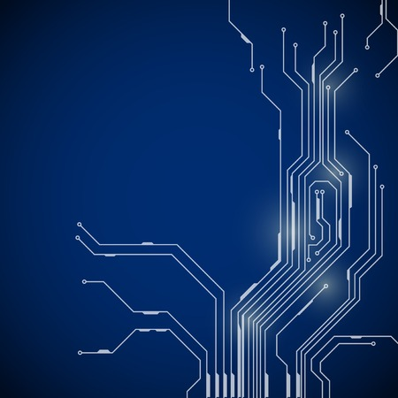 technology background: Abstract background of circuit board digital technologies Illustration