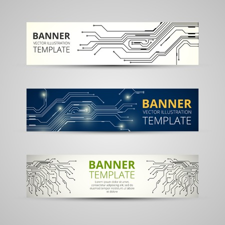 A set of modern vector banners Vector