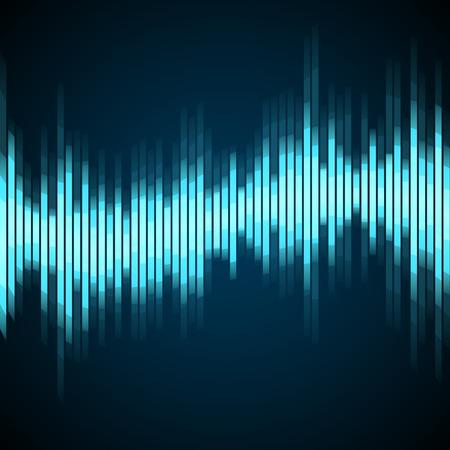 Blue Wave Digital Equalizer. Vector illustration
