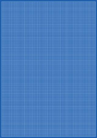 milimetr: Arkuszy Rozmiar papieru A3 milimetrowych Blueprint bębnowy białym tle Ilustracja