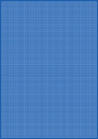 Blueprint millimeter paper A3 reel size sheet white background Illustration
