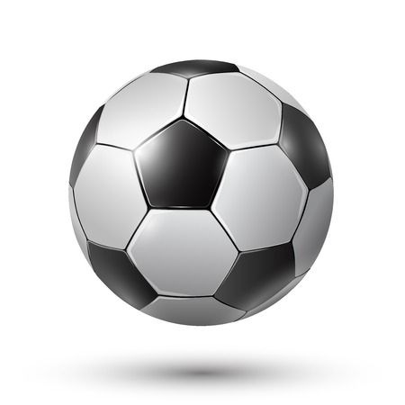 soccerball: Football Soccer ball, Vector realistic illustration.