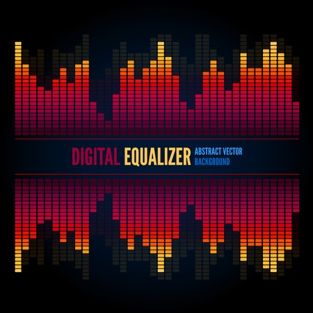 Techno equalizer, abstract technology vector background