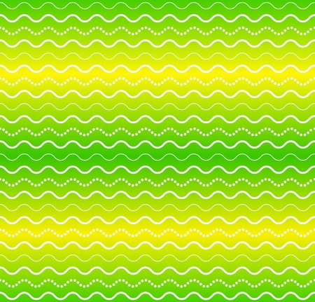 yello: green waves seamless abstract pattern background