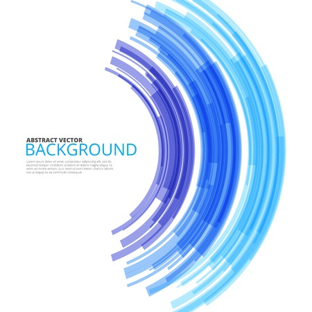 Blue rainbow background tech design illustration Vector