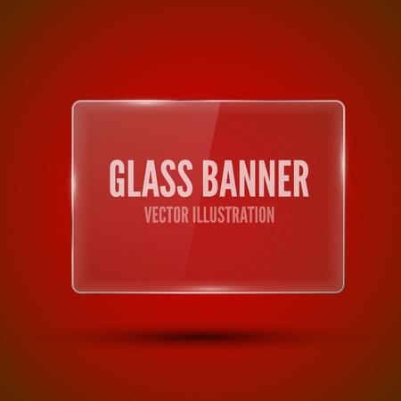Glass framework on red background. Vector illustration. Illustration