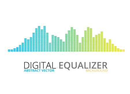 Graphic equalizer vector background Vector