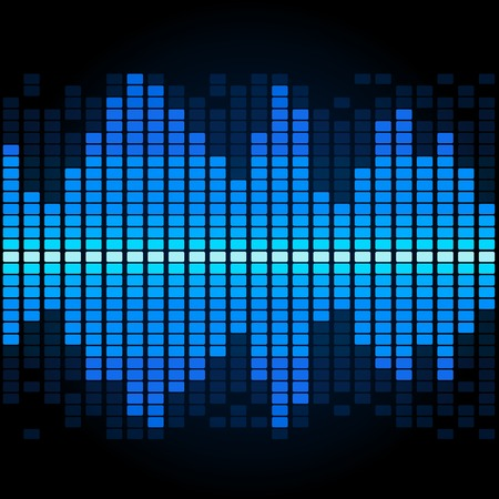 Techno equalizer, abstract technology background