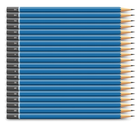 Blue pencils set 向量圖像