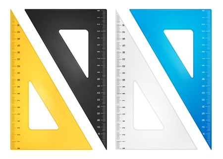 drafting tools: Triangle ruler set