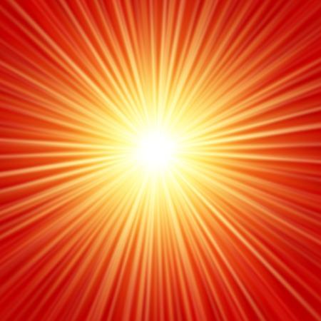 Realistic sun burst with flare Çizim