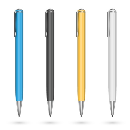 ballpoint: Colored pens Illustration