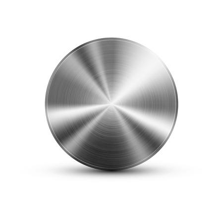 titan: Circle button metal Illustration
