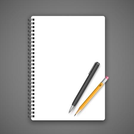 moleskin: Notebook and pencil Illustration