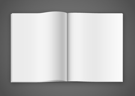 open notebook: Notepad template Illustration