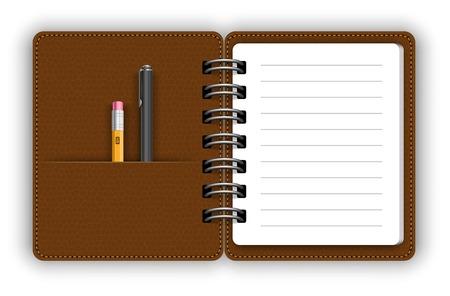moleskin: Open notepad Illustration