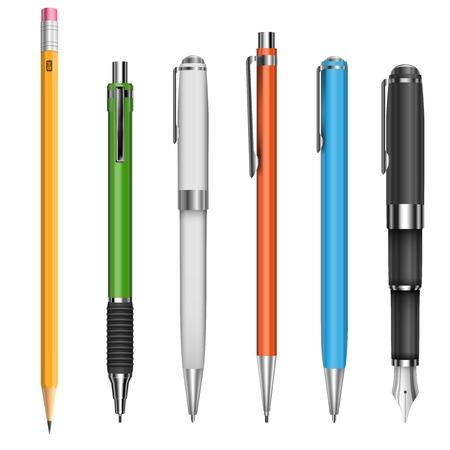 Stylos et crayons Banque d'images - 30509584