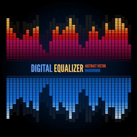 audio wave: Equalizer on abstract technology background