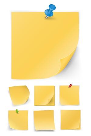 sticky notes: sticky notes Stock Illustratie