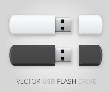 usb memory: An isolated USB pen drive Illustration