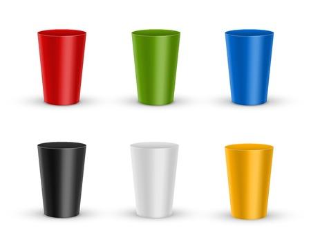 glases: Plastic glass Illustration