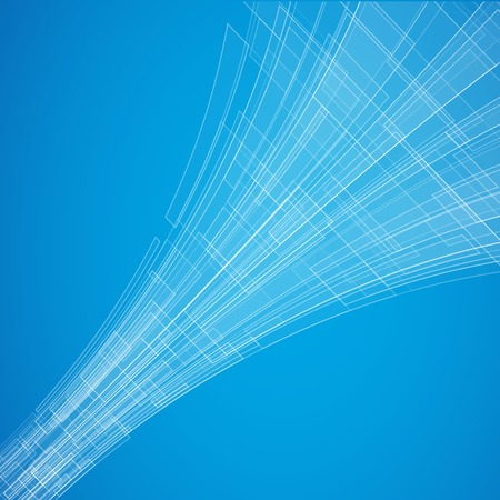 tunnel light: Abstract blue vector