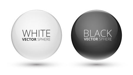 black and white Balls Vector