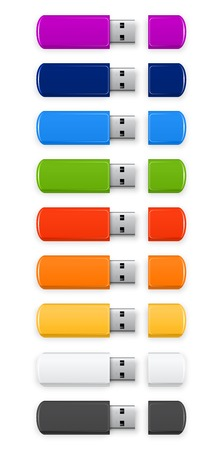 Colored USB flash Vector