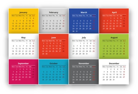 red ribbon week: Calendar Illustration