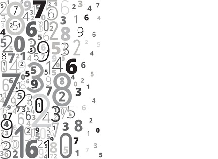 educational material: Numbers background